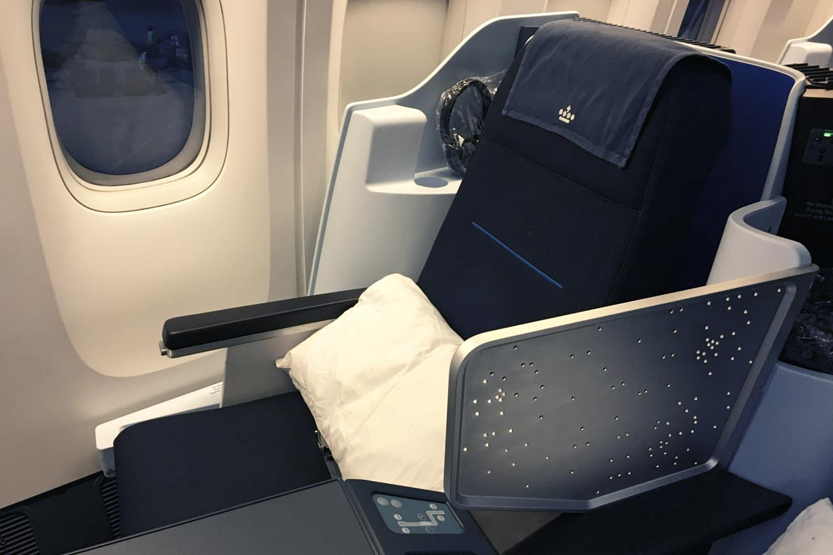 KLM business class review airline