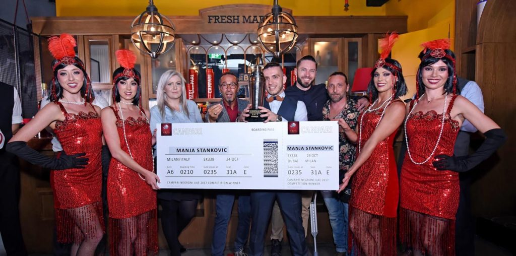 Manja Stankovic, winner of Campari Negroni Competition Dubai 2017, Zoe Bowker