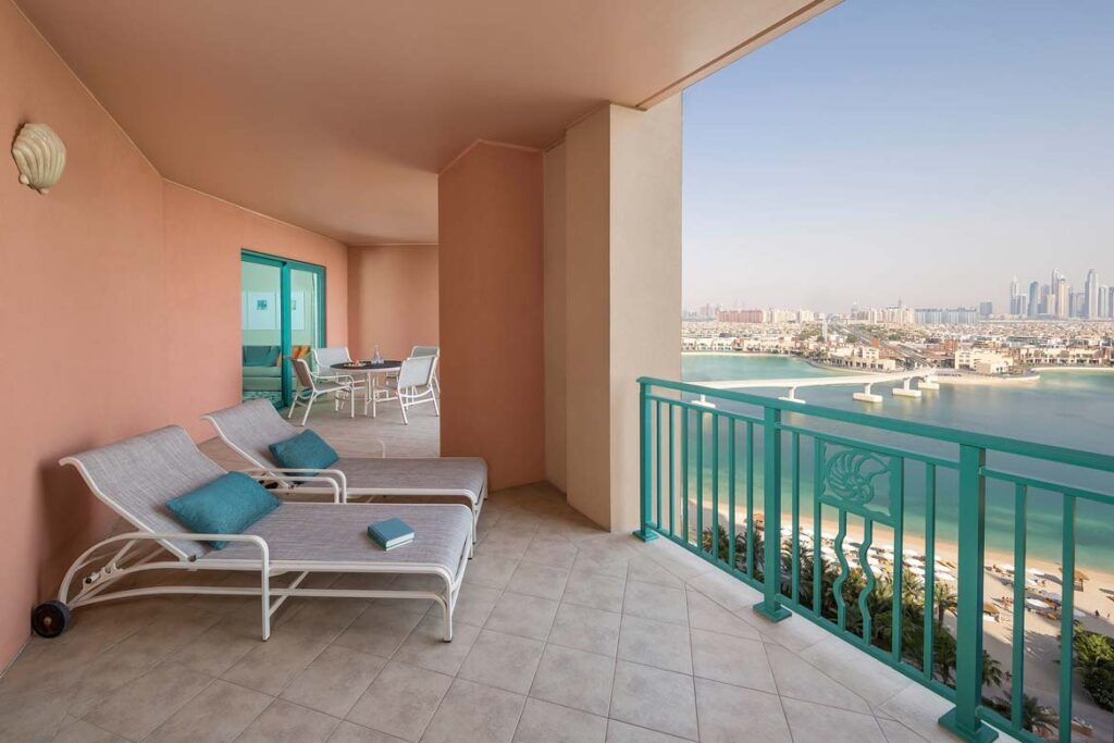 atlantis dubai terrace suite balcony review