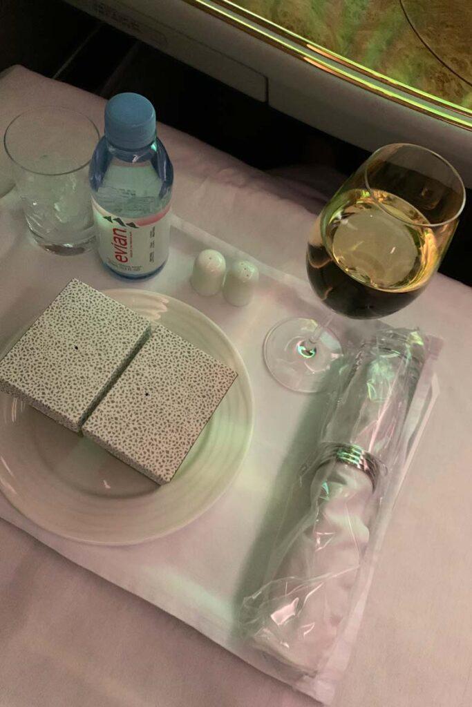 emirates first class covid menu 22