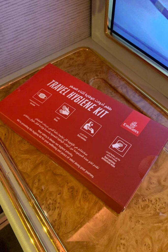 emirates first class hygiene